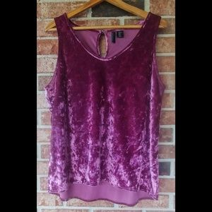 3/$20 Cynthia Rowley Velvet Berry Tank Top XL